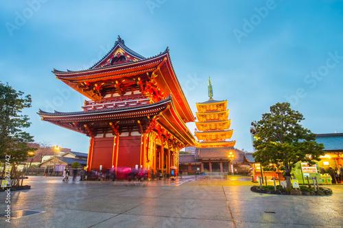 Poster Tokyo Senso-ji Temple in Tokyo, Japan