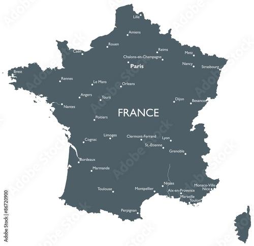 Obraz na plátně  France map