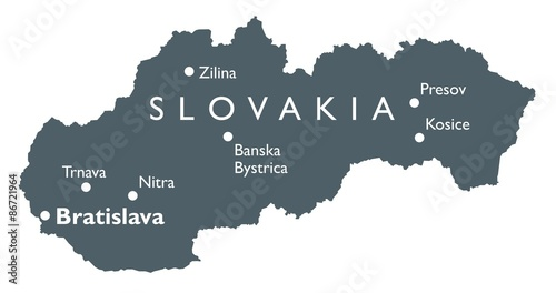Photo  Slovakia map