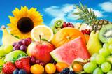 Słonecznik i owoce