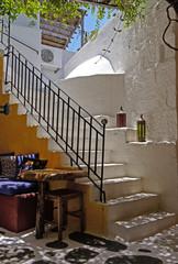 Fototapeta Schody In der Altstadt von Parikia auf Paros