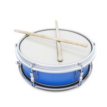 Blue Drum With Shock Sticks