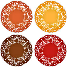 Lace Doily Place Mats, Vintage Pattern For Thanksgiving, Harvest Table Settings