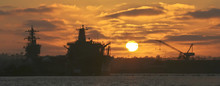 A Sunset Over Naval Base Coron...