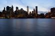 Manhattan skyline in dusk