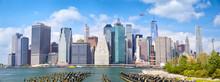 Lower Manhattan Skyscrapers, Panoramic View, New York