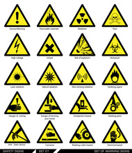 Set Of Safety Signs. Caution S...