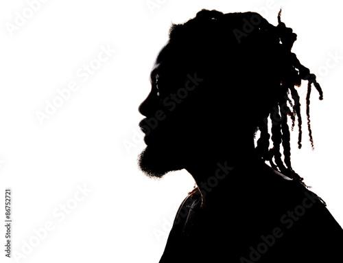 Fotografia Sylwetka African American Man