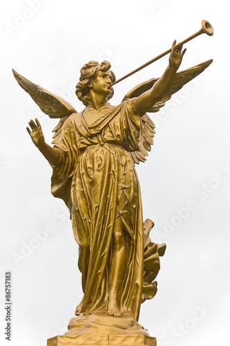 Statue of Angel and trumpet.