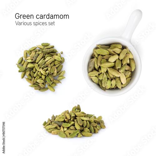 Fototapeta Green cardamom spice obraz