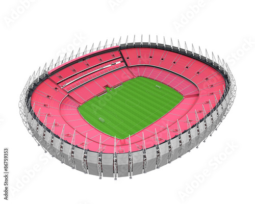 Spoed Foto op Canvas Stadion Stadium Building Isolated