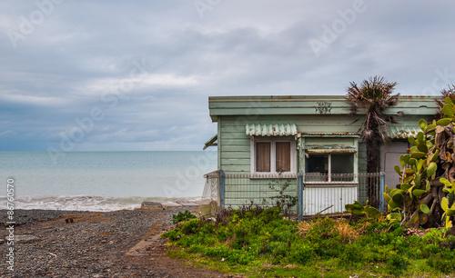 Foto auf Leinwand Neuseeland Classic Kiwi bach