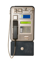 Public Payphone Isolated On Wh...