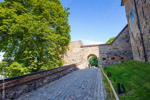 Gate of the Akershus Castle in Oslo, Norway Poster