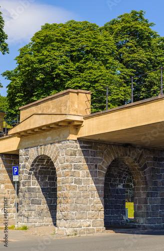 Bridge of the Akershus castle, Oslo, Norway Poster
