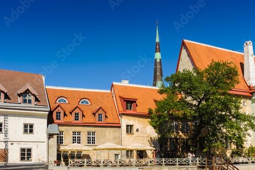 Papiers peints Les vieux bâtiments abandonnés Architecture of the Old Town of Tallinn, Estonia