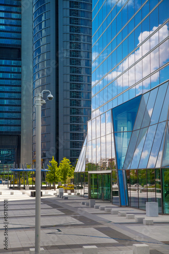 Fototapety, obrazy: MADRID, SPAIN - MAY 28, 2015: Madrid city, business centre, Cuatro Torres