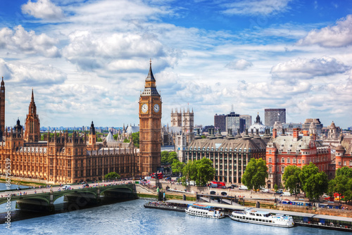 Fotografija Big Ben, Westminster Bridge on River Thames in London, the UK