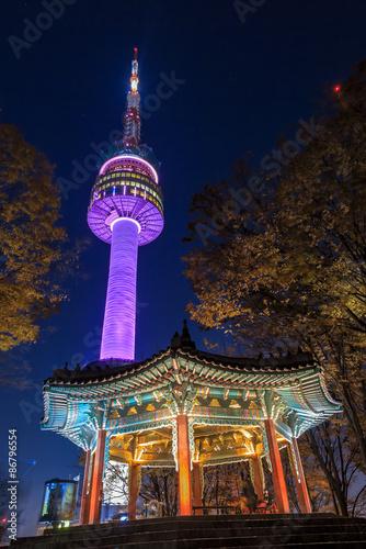 In de dag Seoel Seoul tower