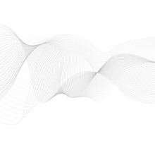 Curved Lines Background White And Grey Vector