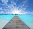 Path on the ocean, Maldives