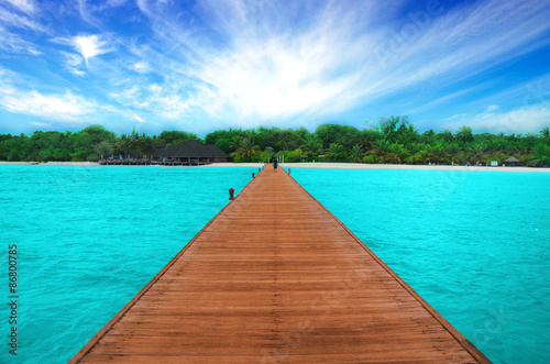 Fotografie, Obraz  Pathway on the ocean in Maldives