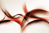 Creative Brown Orange Fractal Waves Art Abstract Background Composition - 86803574