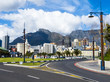 canvas print picture - Cape Town skyline with Table Mountain in background, South Africa