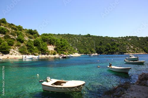 Papel de parede Paradies auf der Insel Solta, Kroatien