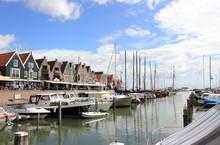 The Harbor Of Volendam. The Netherlands.