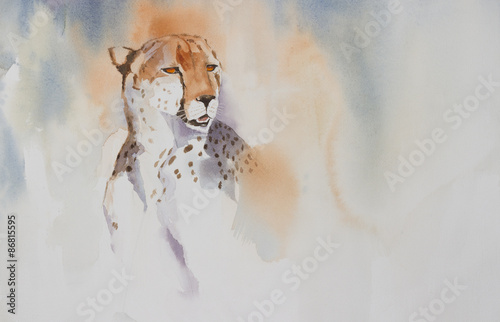 oryginalna-akwarela-portret-geparda