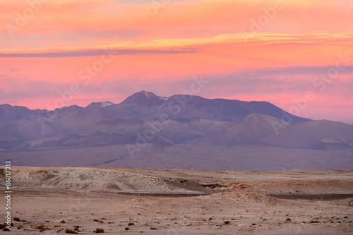 Deurstickers Koraal Beautiful nature of of the Atacama Desert, Chile.
