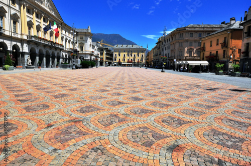 Town square of Aosta Wallpaper Mural