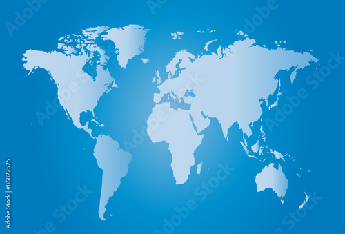 World Map Illustration with largest cities – kaufen Sie ...
