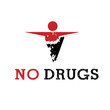 Abstract icon man released of drugs. Vector