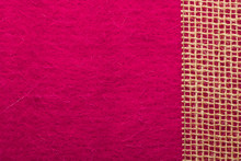 Jute Mesh Over Pink Background