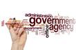 Leinwandbild Motiv Government agency word cloud