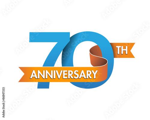 Photographie  anniversary logo modern 70