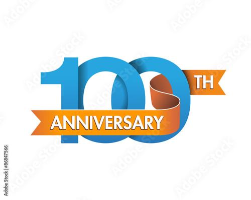 anniversary logo modern 100