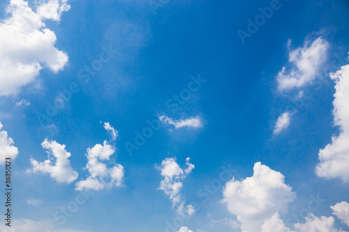 Aluminium Prints Heaven Cloud in the clear sky