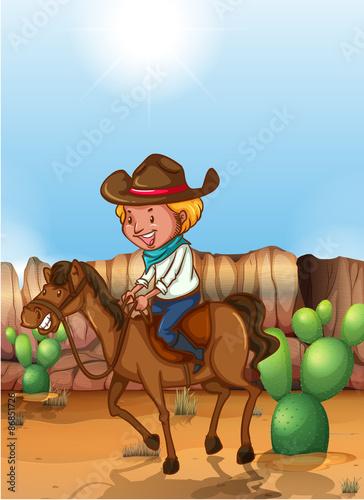 Fotobehang Indiërs Cowboy