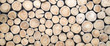Leinwanddruck Bild - wallpaper wood log