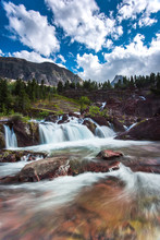 Red Rock Falls At Many Glacier...