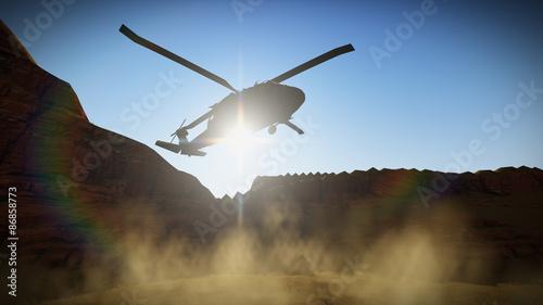 Türaufkleber Hubschrauber BLACKHAWK