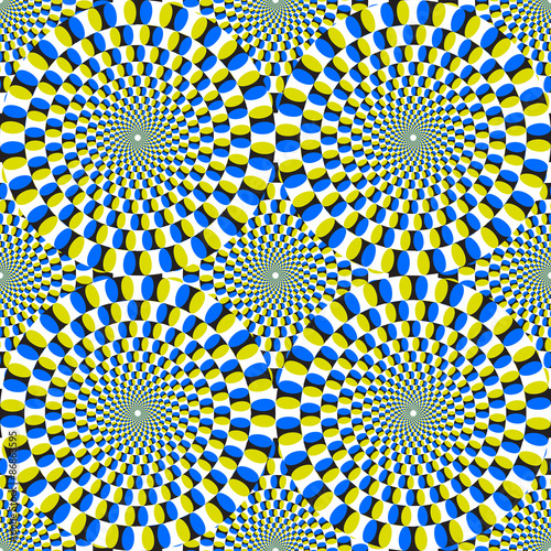 Obraz Opt Art Illustration for your design. Optical Illusion. Abstract background. Use for cards, invitation, wallpapers, pattern fills, web pages elements and etc. - fototapety do salonu