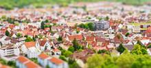 Blick Vom Hohensaperg - Tiltshift Miniatur Effekt