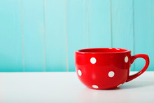 Red Polka Dot Coffee Mug