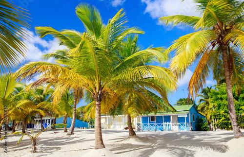 Montage in der Fensternische Karibik Traditional caribbean houses