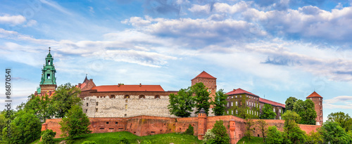 Panorama of Wawel castle in Cracow, Poland #86870541