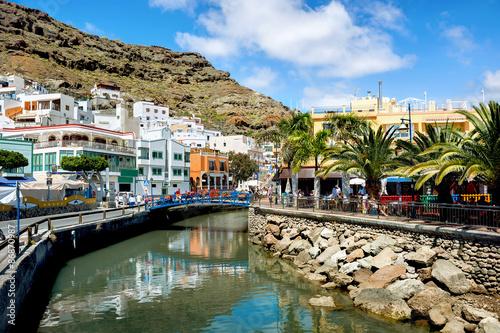 Printed kitchen splashbacks Coast Puerto Mogan. Gran Canaria. Spain